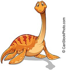 Dinosaur with long neck illustration