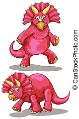 Dinosaur with sharp horns