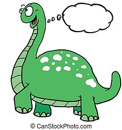 dinosaur with thought bubble