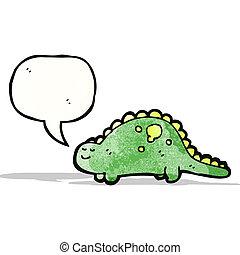 dinosaure, amical, dessin animé