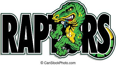 dinosaure, conception, vert, rapace