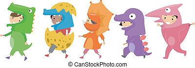 dinosaure, costumes