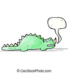 dinosaure, dessin animé, amical
