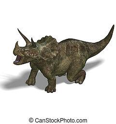 dinosaure, triceratops