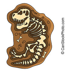 dinosaures, fosil