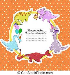 dinosaures, multi-coloré
