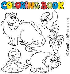 dinosauri, 2, libro colorante