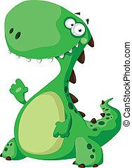 dinosaurie, grön