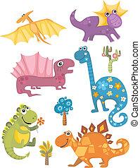 dinosaurie, sätta