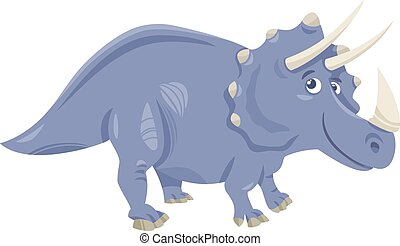 dinosaurie, triceratops, tecknad film, illustration