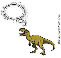 dinosaurierer, bild, karikatur