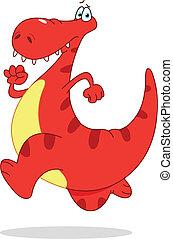 dinosaurierer, rennender