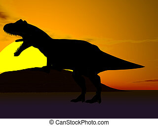 dinosaurierer, silhouette