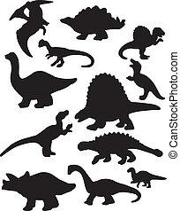 dinosaurierer, silhouetten