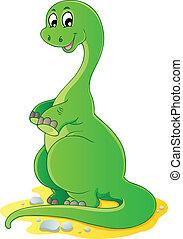 dinosaurierer, thema, 2, bild