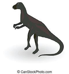dinosaurierer, vektor, abbildung, eins