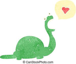 dinosaurio, carácter, amistoso, caricatura
