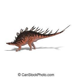 dinosaurio, gigante, kentrosaurus