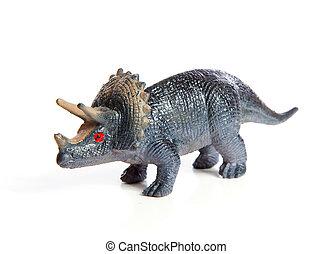 dinosaurio, juguete, plástico