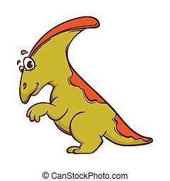 dinosaurio, lindo, monstruo, caricatura