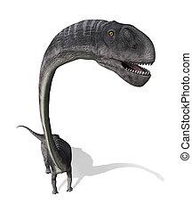 dinosaurio, omeisaurus, sobre