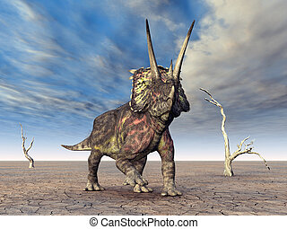 dinosaurio, pentaceratops