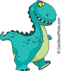 dinosaurio, sonriente