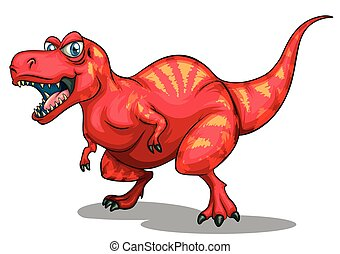 dinosauro, con, teeth affilato