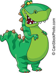 dinosauro, felice