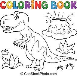 dinosauro, libro colorante
