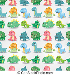 dinosauro, seamless, modello
