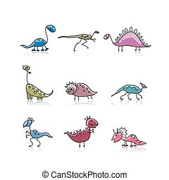 Dinosaurs collection, sketch for your design