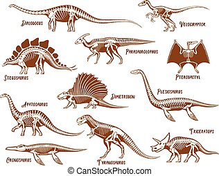 Dinosaurs Decorative Icons Set