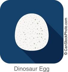 Dinosaurs egg ,flat icon