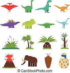 Dinosaurs Flat Set