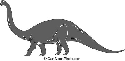 Dinosaurs illustrations on white background. Vector