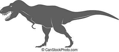 Dinosaurs illustrations on white background. Vector