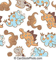Dinosaurs repeat seemless pattern