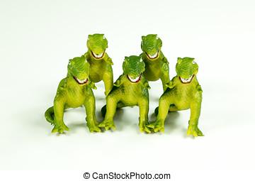 dinosaurs:, speelbal, t-rex
