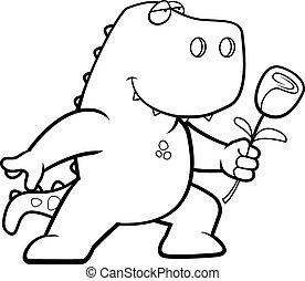 dinosaurus, bloem