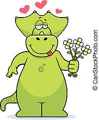 dinosaurus, bloemen
