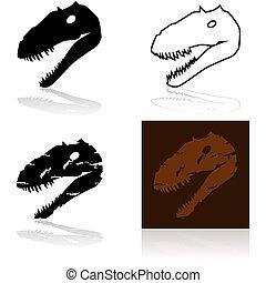 dinosaurus, hlavička