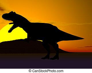 dinosaurus, silhouette
