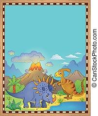 dinosaurus, thema, perkament, 4