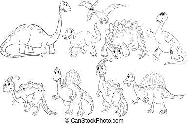 dinosaurussen, anders, types