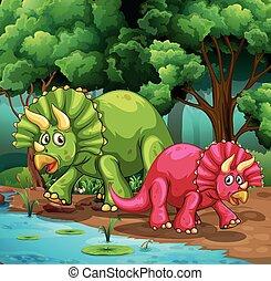 dinosaurussen, bos