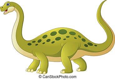 dinossauro, adorável, caricatura
