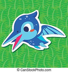 dinossauro, cute, sticker03
