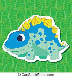 dinossauro, cute, sticker05