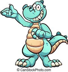 dinossauro, feliz